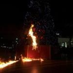 Pour un Noël noir, attaque incendiaire contre un sapin