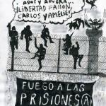 Lecture devant le consulat méxicain des lettres des compagnon-ne-s arrêté-e-s à Mexico