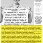 Affiche de grève avec une perspective de genre